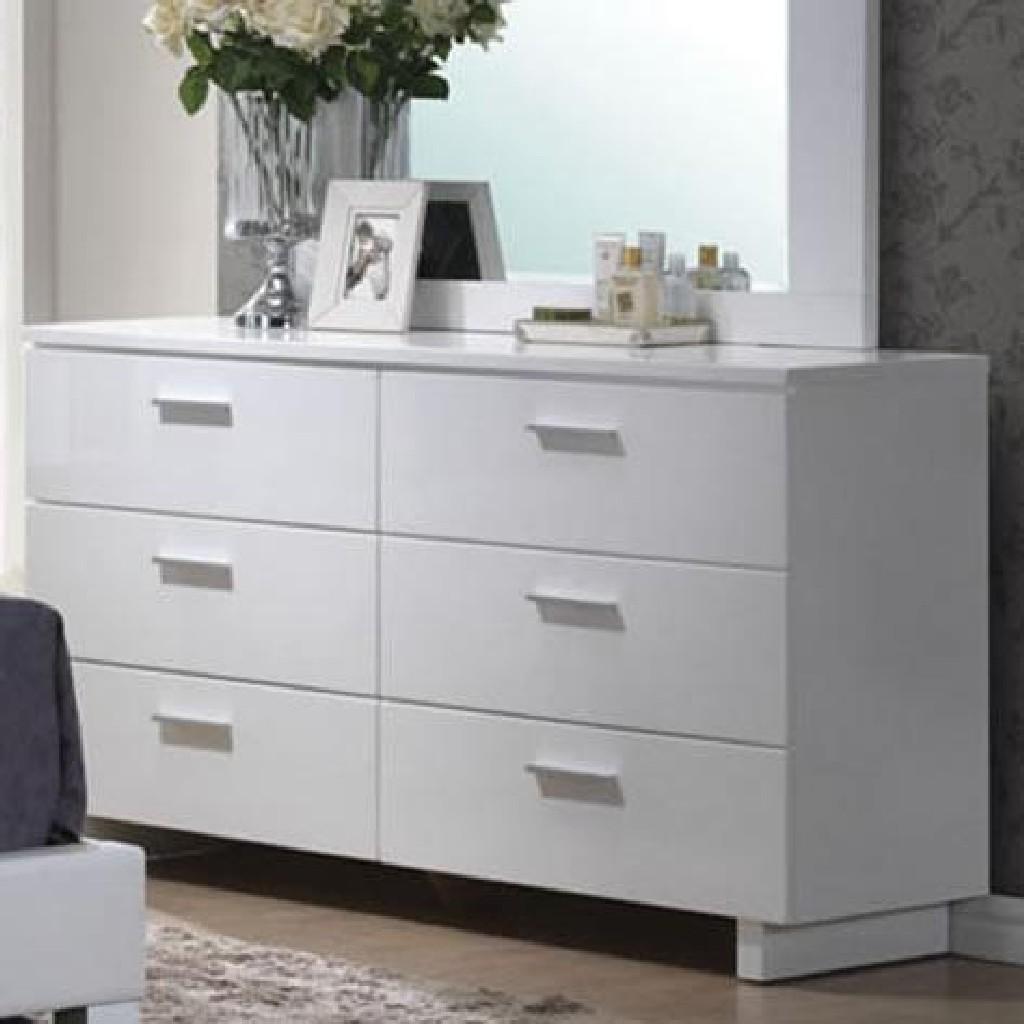 Acme Lorimar Dresser White Chrome Leg