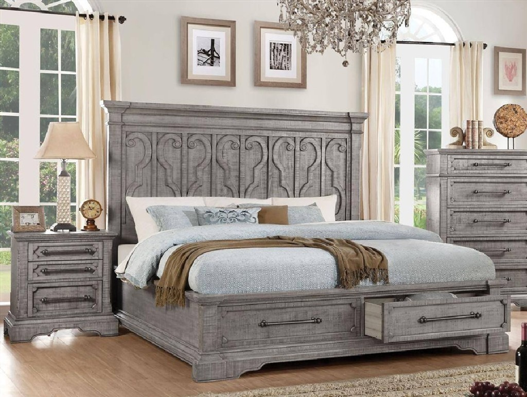 Acme Eastern King Bed Salvaged Natural