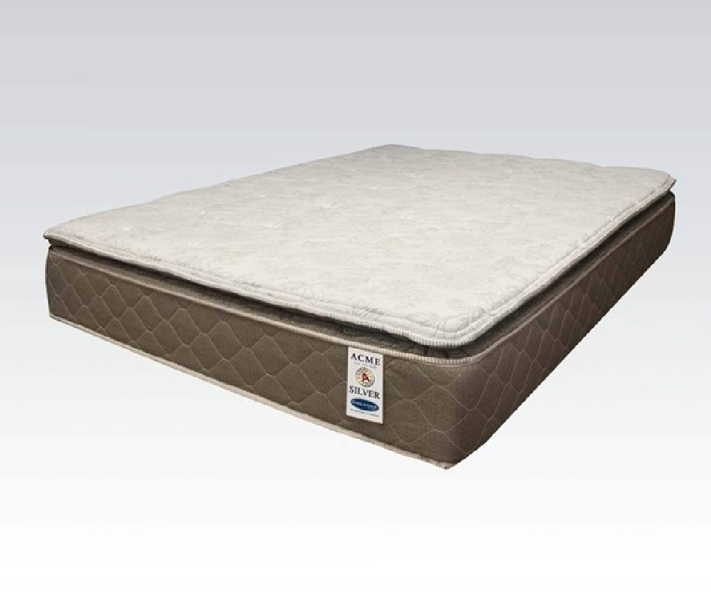 Acme Englander Silver Queen Mattress Pillow Top