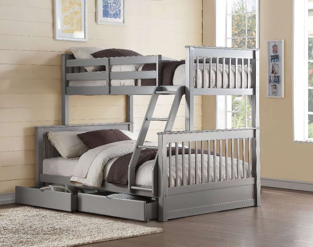 Acme Haley Bunk Bed Twin Full Gray