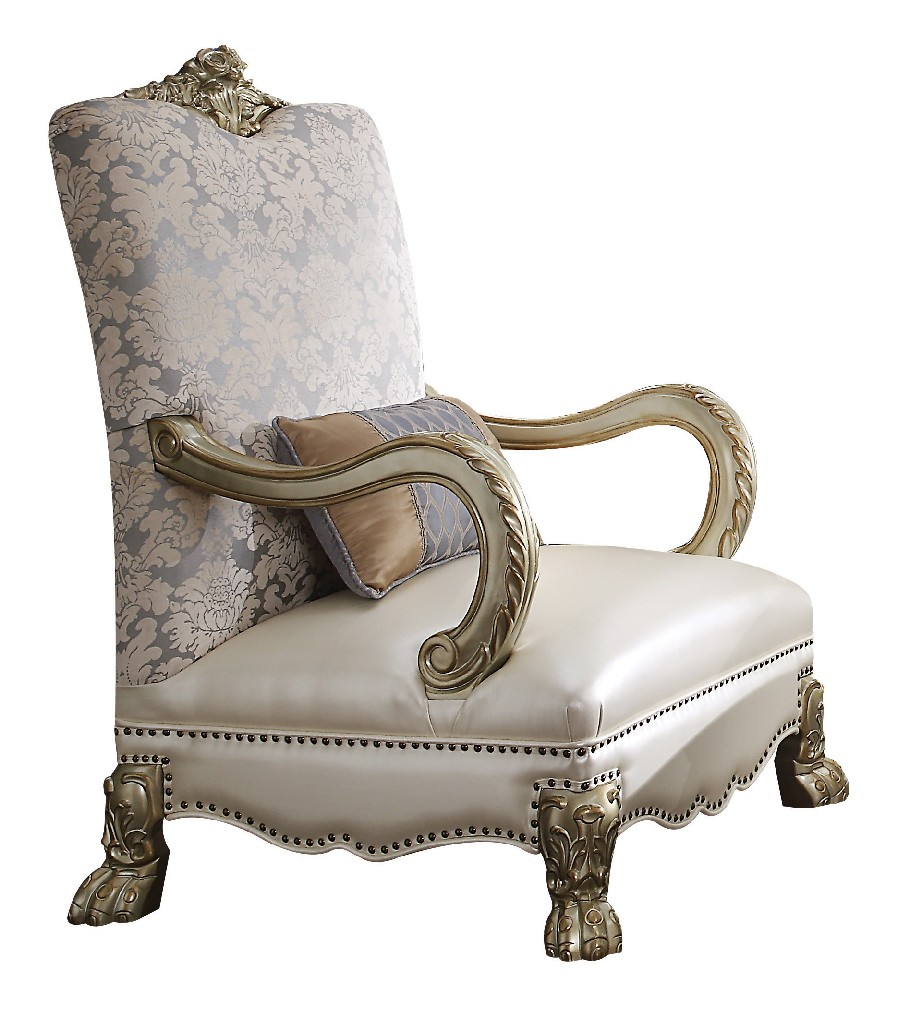 Furniture | Patina | Accent | Pillow | Pearl | Chair | Gold
