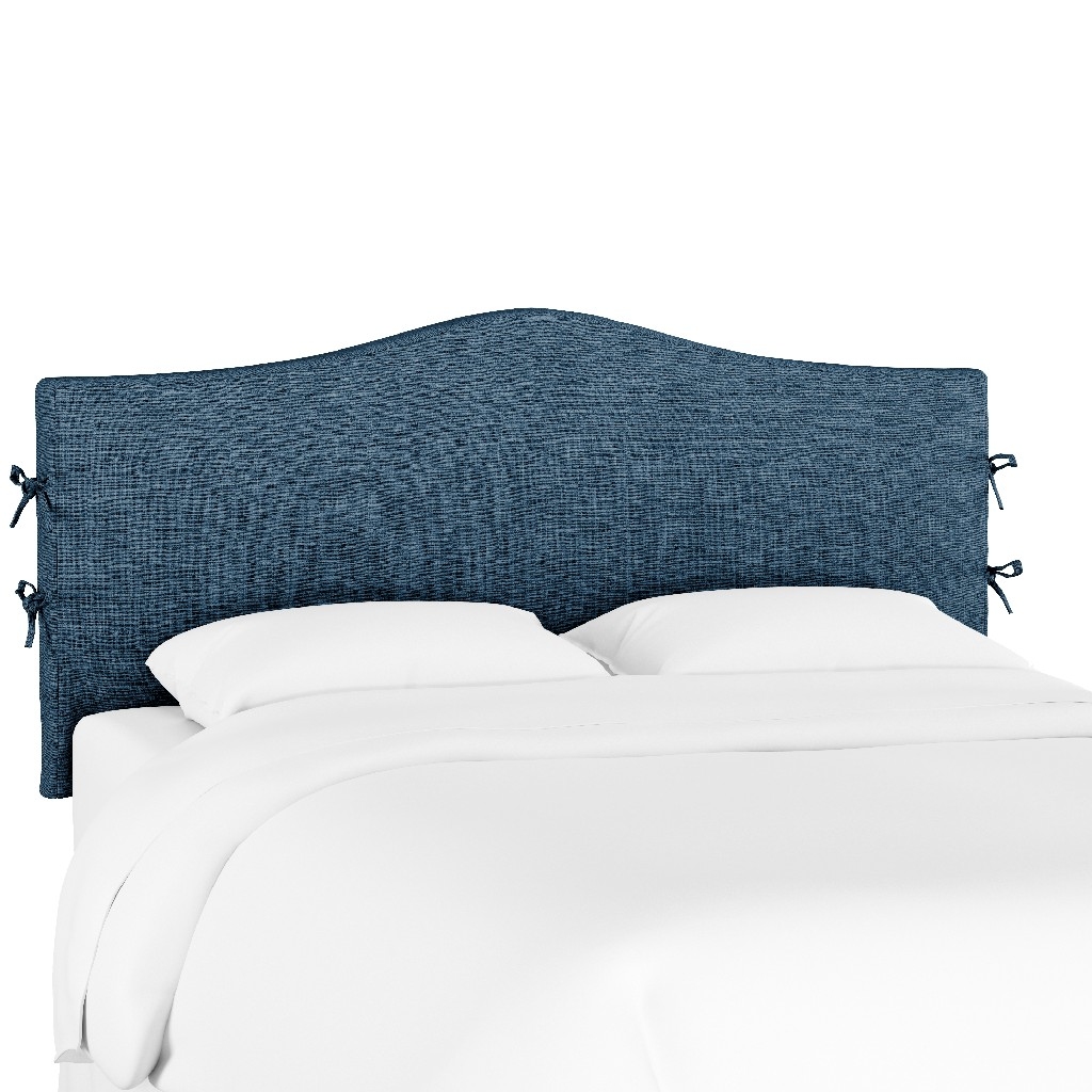 California King Slipcover Headboard in Zuma Navy - Skyline 474SLZMNV
