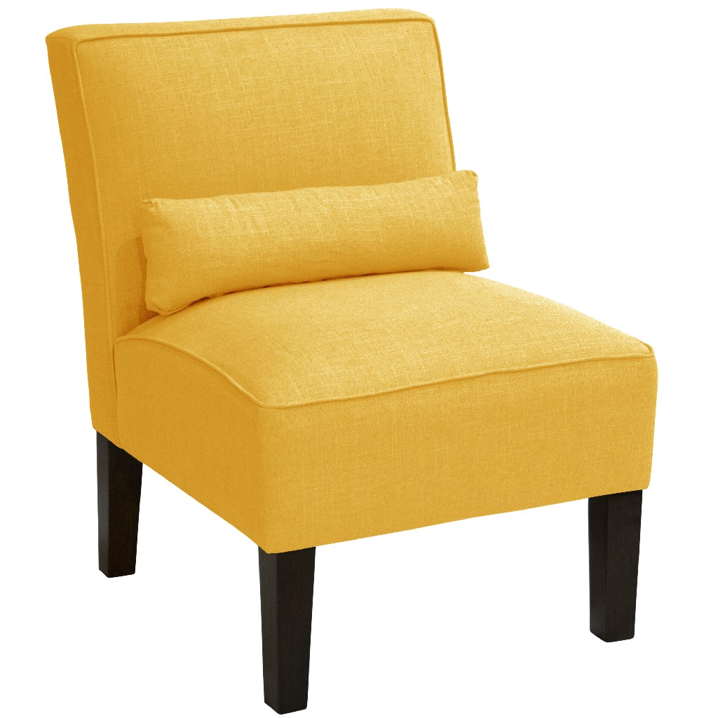 Armless Chair in Linen French Yellow - Skyline 5705LNNFRNYLW