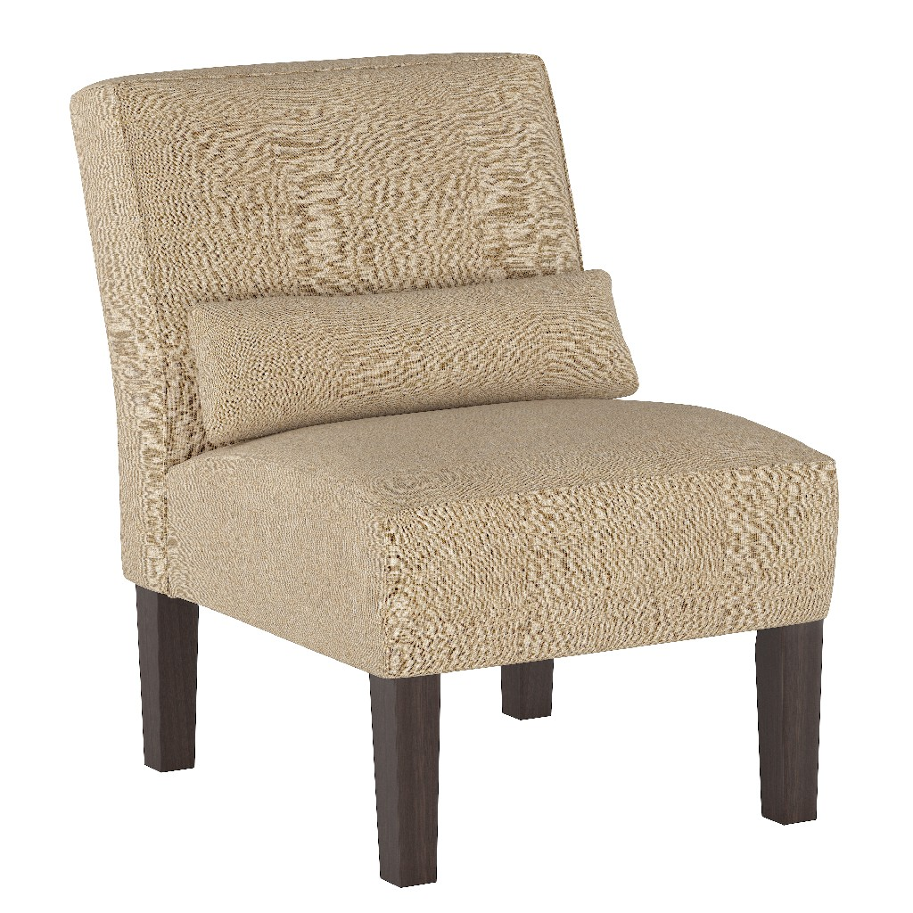 Armless Chair in Linen Sandstone - Skyline 5705LNNSND