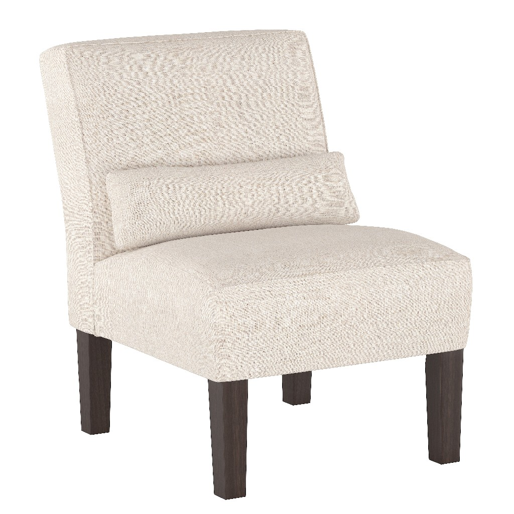 Armless Chair in Linen Talc - Skyline 5705LNNTLC