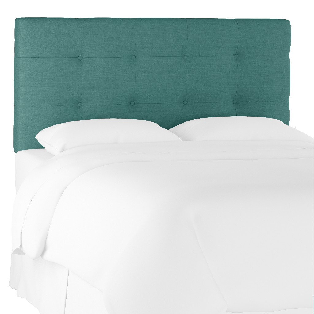 California King Tufted Headboard in Linen Laguna - Skyline 794CLNNLGN