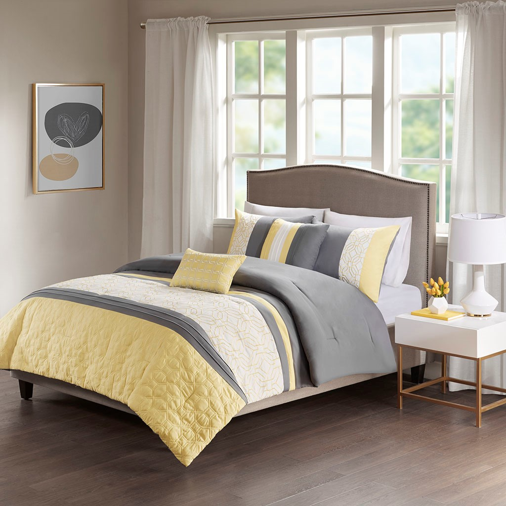 Donnell Full/Queen Embroidered 5 Piece Comforter Set - 510 Design 5DS10-0059