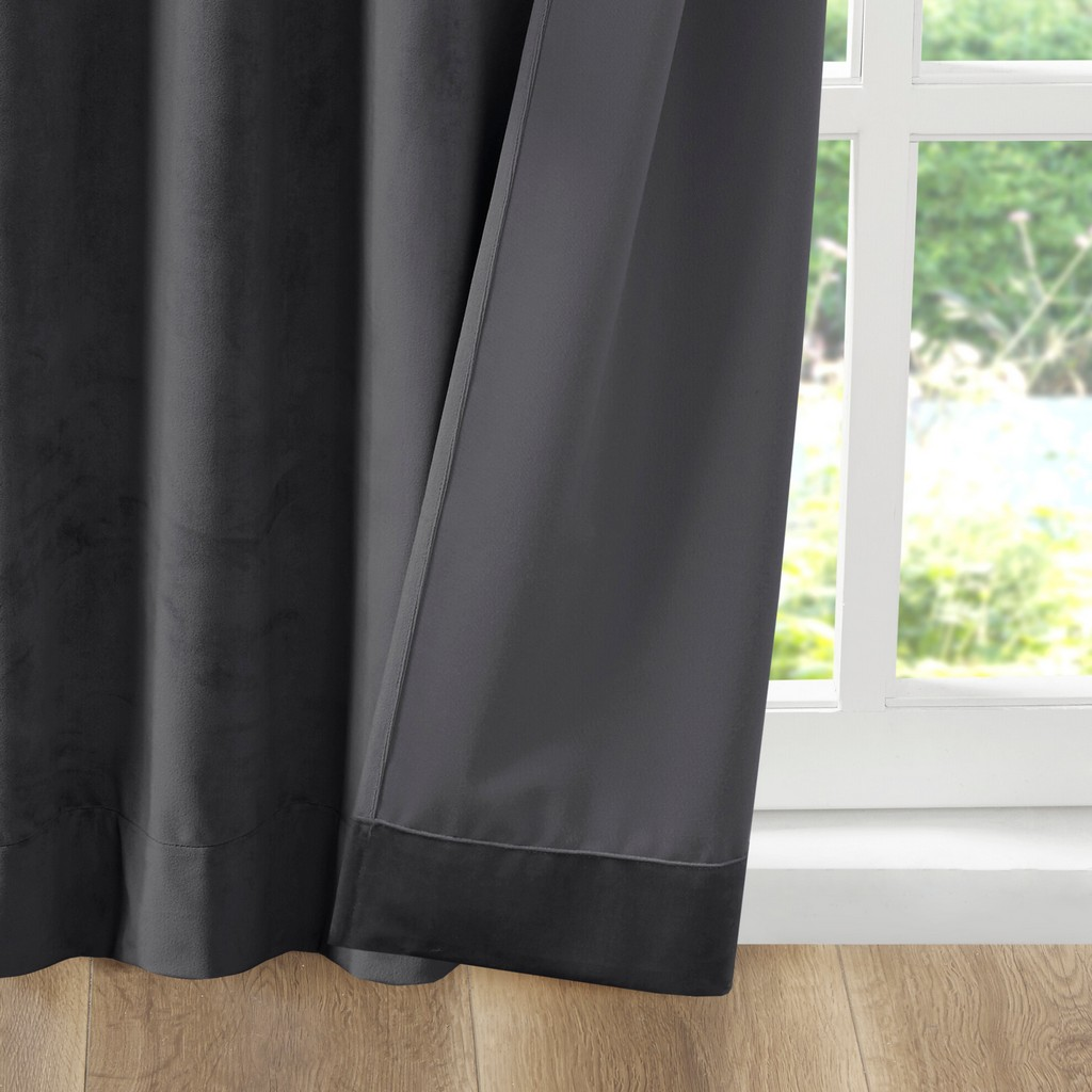 100% Polyester Solid Velvet Window Pair - Olliix 5DS40-0227