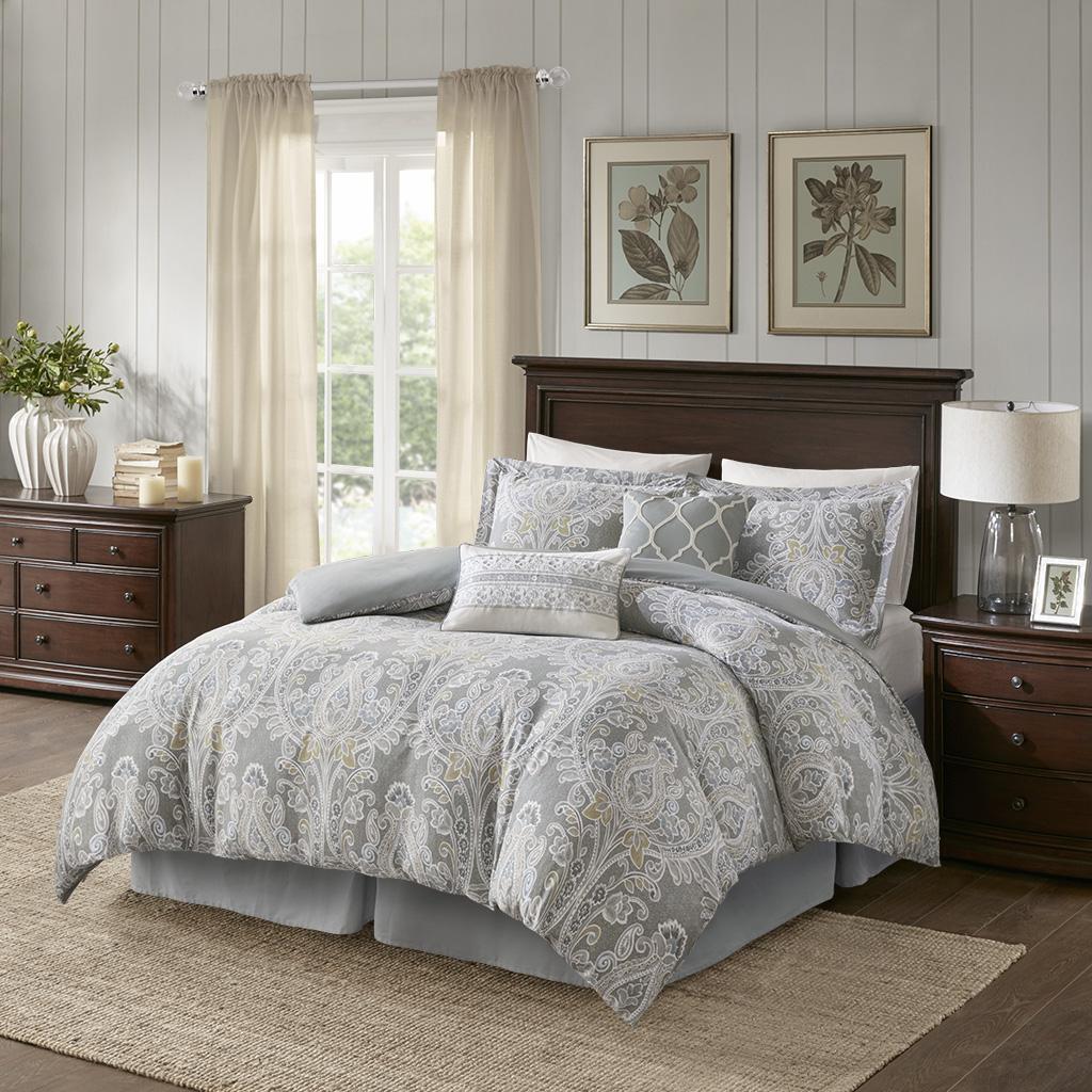 Hallie Queen 6 Piece Cotton Comforter Set - Harbor House HH10-1684