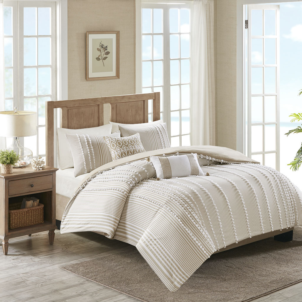 Anslee King 3 Piece Cotton Yarn Dyed Comforter Set - Harbor House HH10-1690
