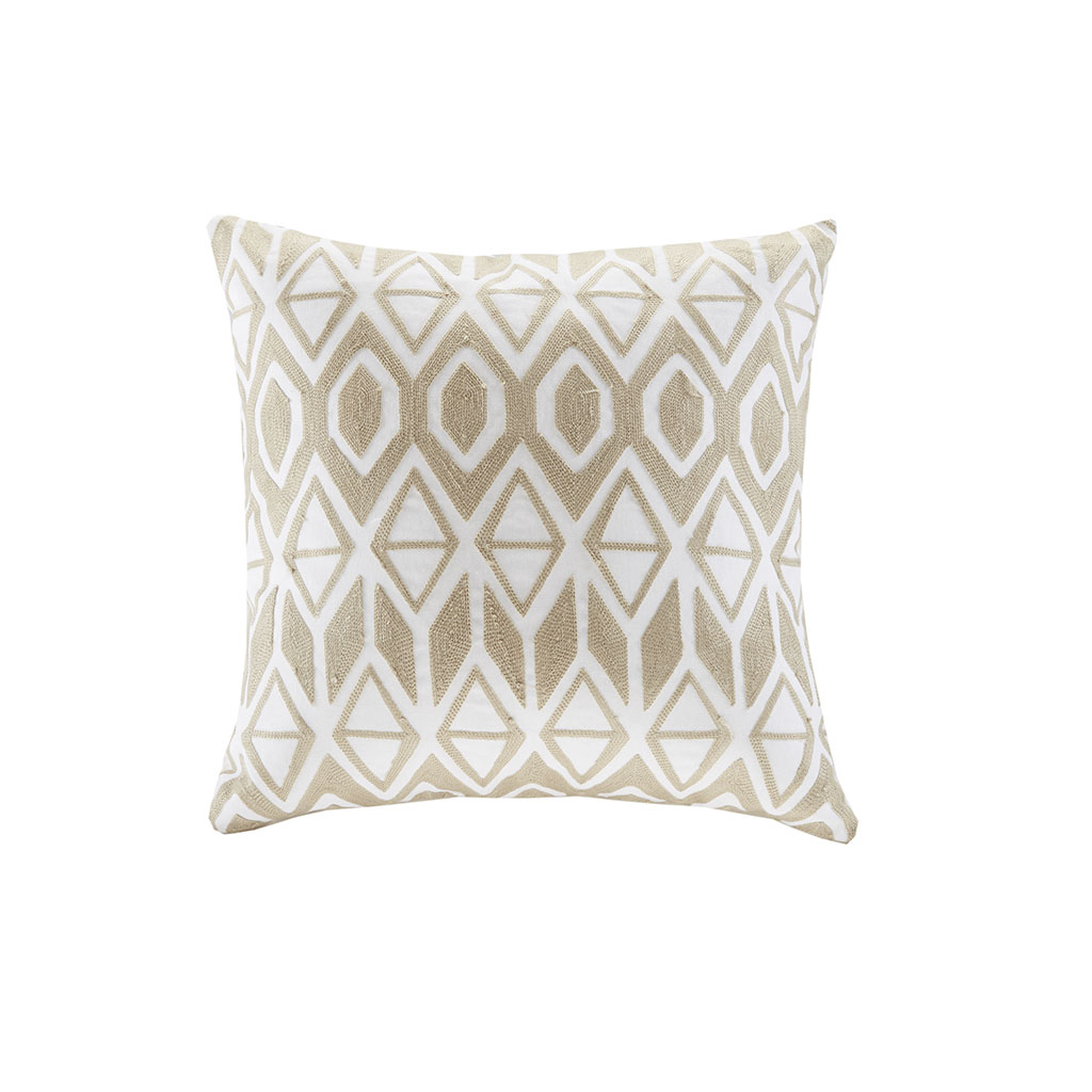 """Anslee 18x18"""" Embroidered Cotton Square Decorative Pillow - Harbor House HH30-1693"""