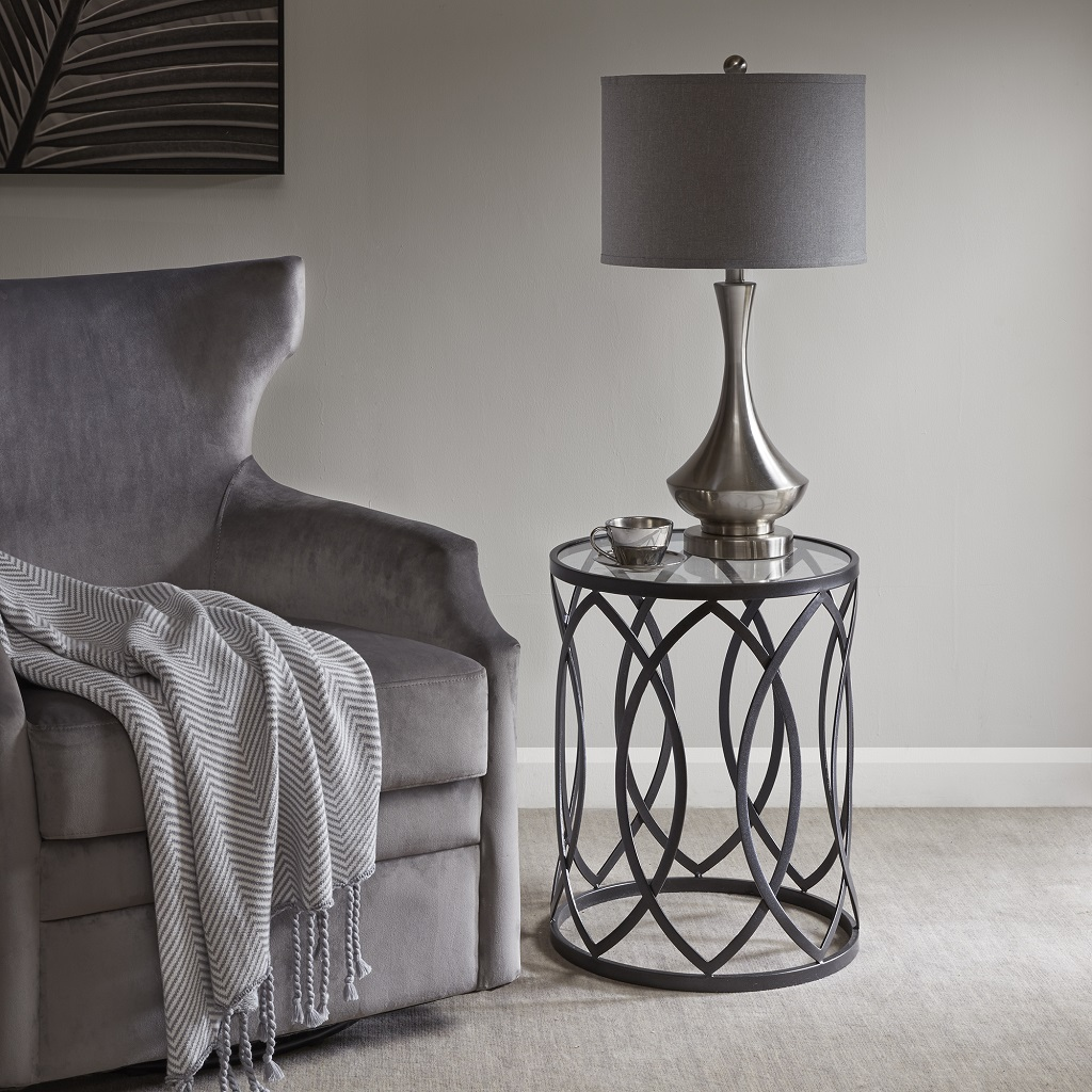Arlo Metal Eyelet Accent Table - Madison Park MP120-0693