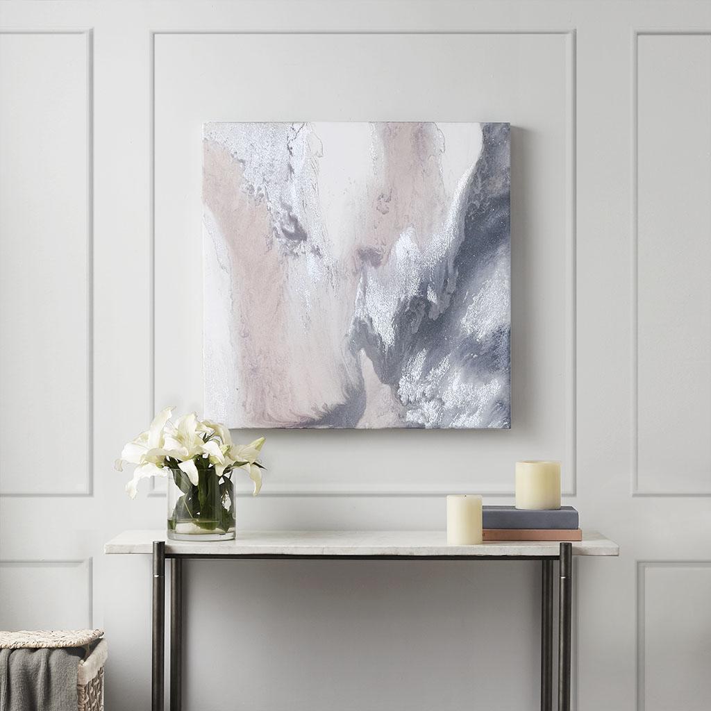 Blissful Blush Gel Coat Canvas w/ Silver Foil Embellishment - Madison Park MP95C-0167
