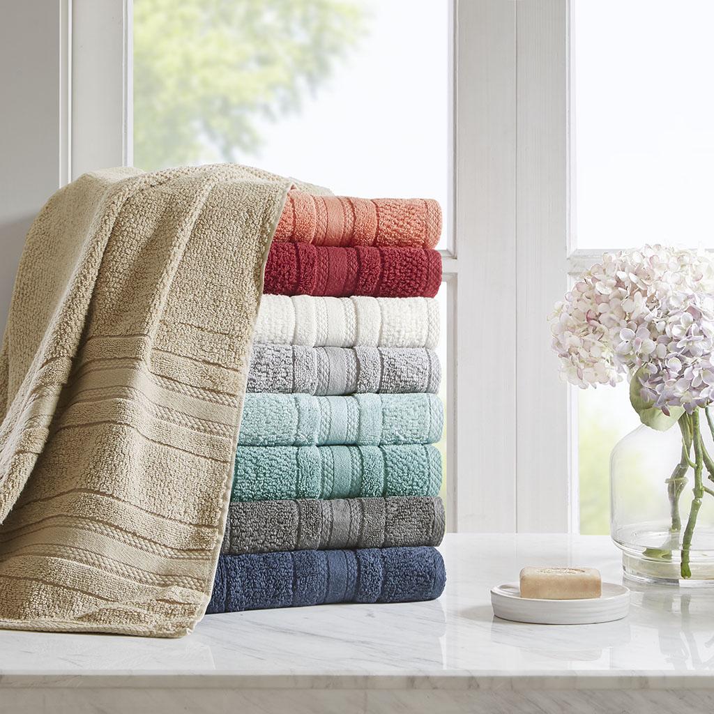 Adrien Super Soft 6 Piece Cotton Towel Set - Madison Park Essentials MPE73-668