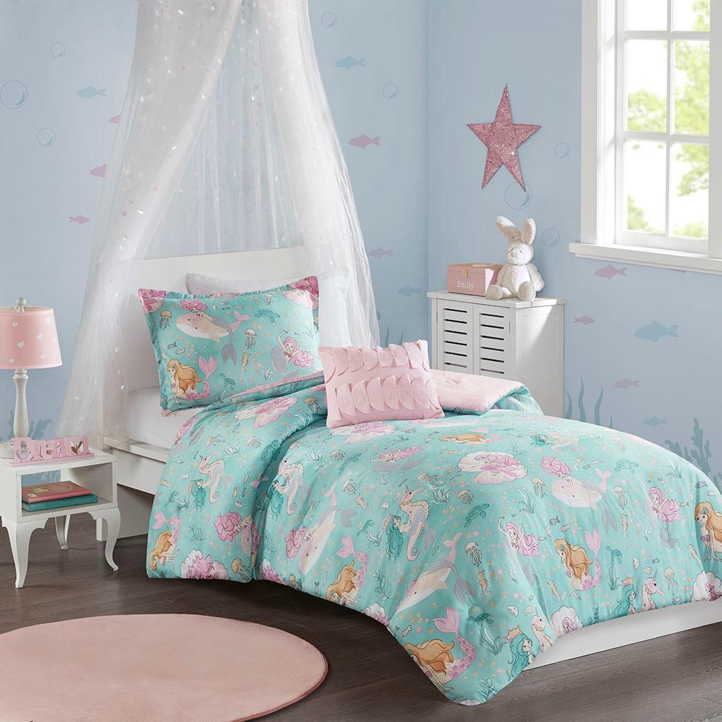 Comforter | Mermaid | Print | Twin | Kid | Set