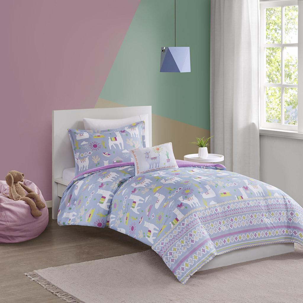 Andes Twin Printed Llama Comforter Set - Mi Zone Kids MZK10-160