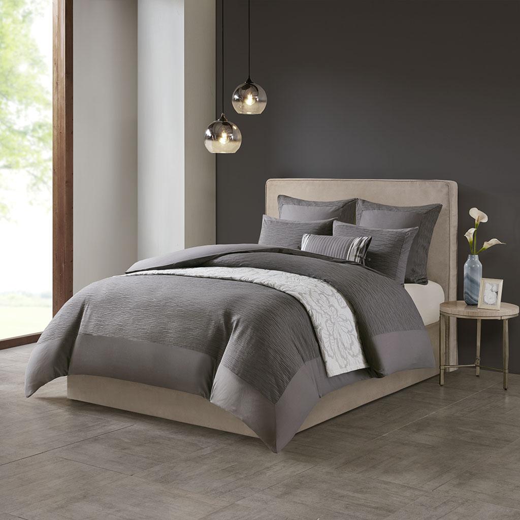 Hanae Full/Queen Cotton Blend Yarn Dyed 3 Piece Comforter Set - N Natori NS10-3249