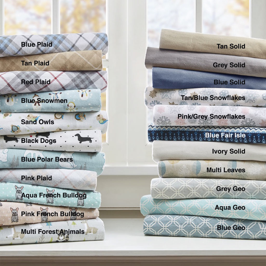 Cozy Flannel Queen Sheet Set - True North by Sleep Philosophy TN20-0374