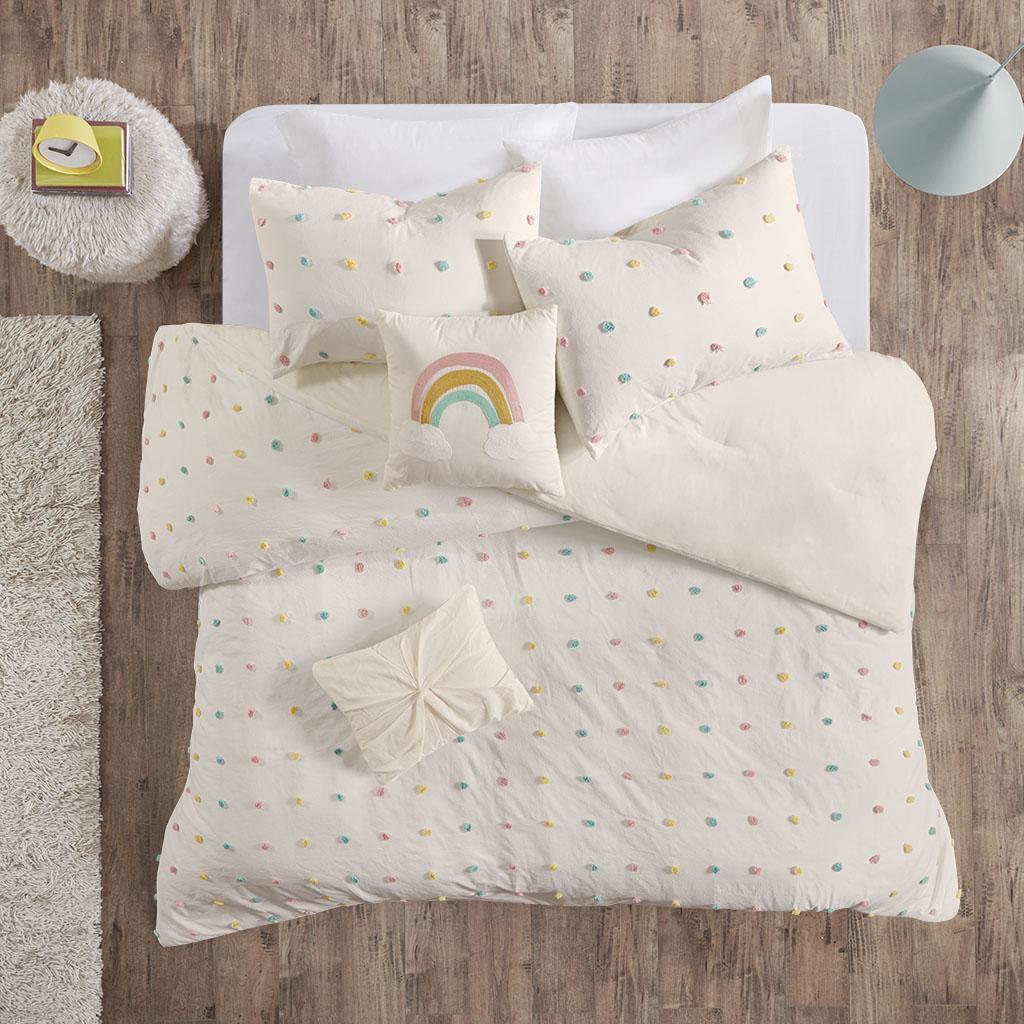 Callie Twin/Twin XL Cotton Jacquard Pom Pom Comforter Set - Urban Habitat Kids UHK10-0090