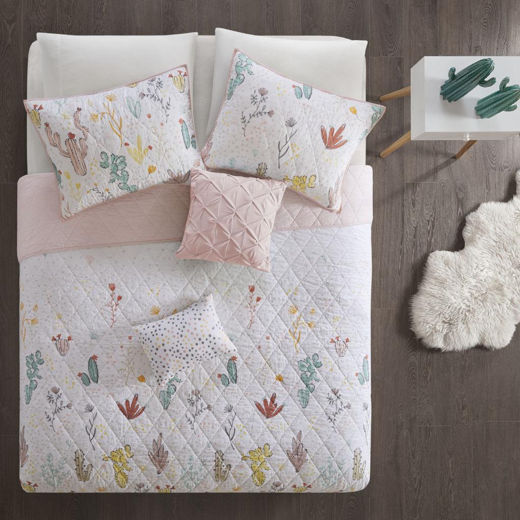 Desert Bloom Twin/Twin XL Cotton Reversible Coverlet Set - Urban Habitat Kids UHK13-0060