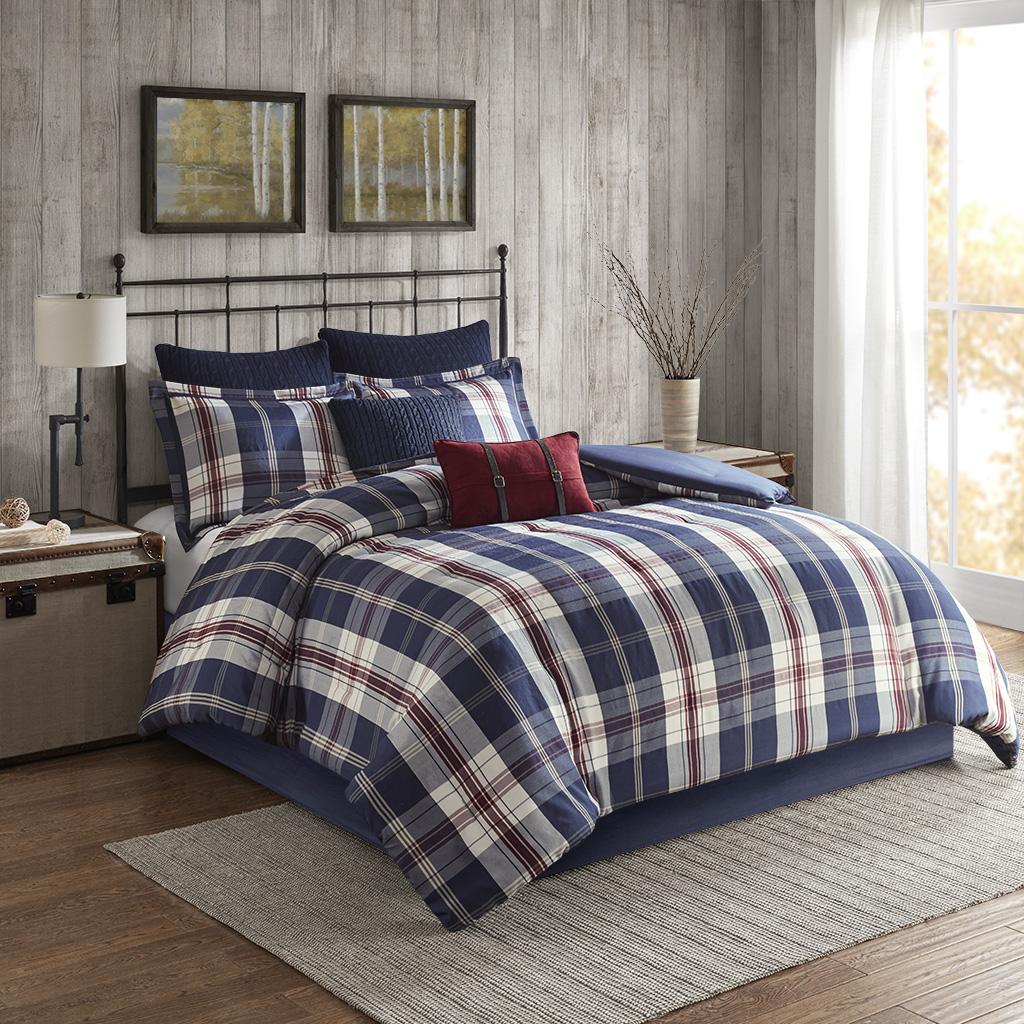 Ryland King/Cal King Oversized Plaid Print Comforter Set - Woolrich WR10-2474
