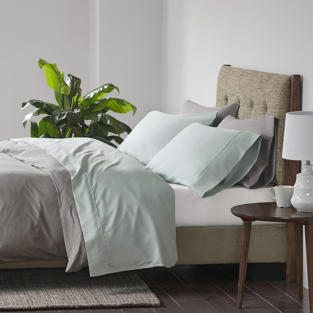 Beautyrest Cal King Cooling Cotton Rich Sheet Set in Seafoam - Olliix BR20-1001
