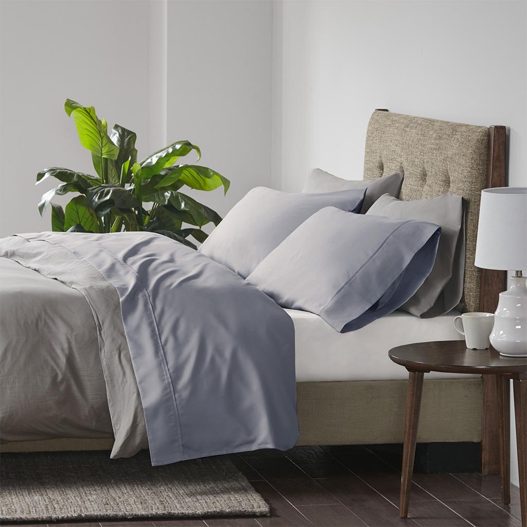 Beautyrest Full Cooling Cotton Rich Sheet set in Blue - Olliix BR20-1002