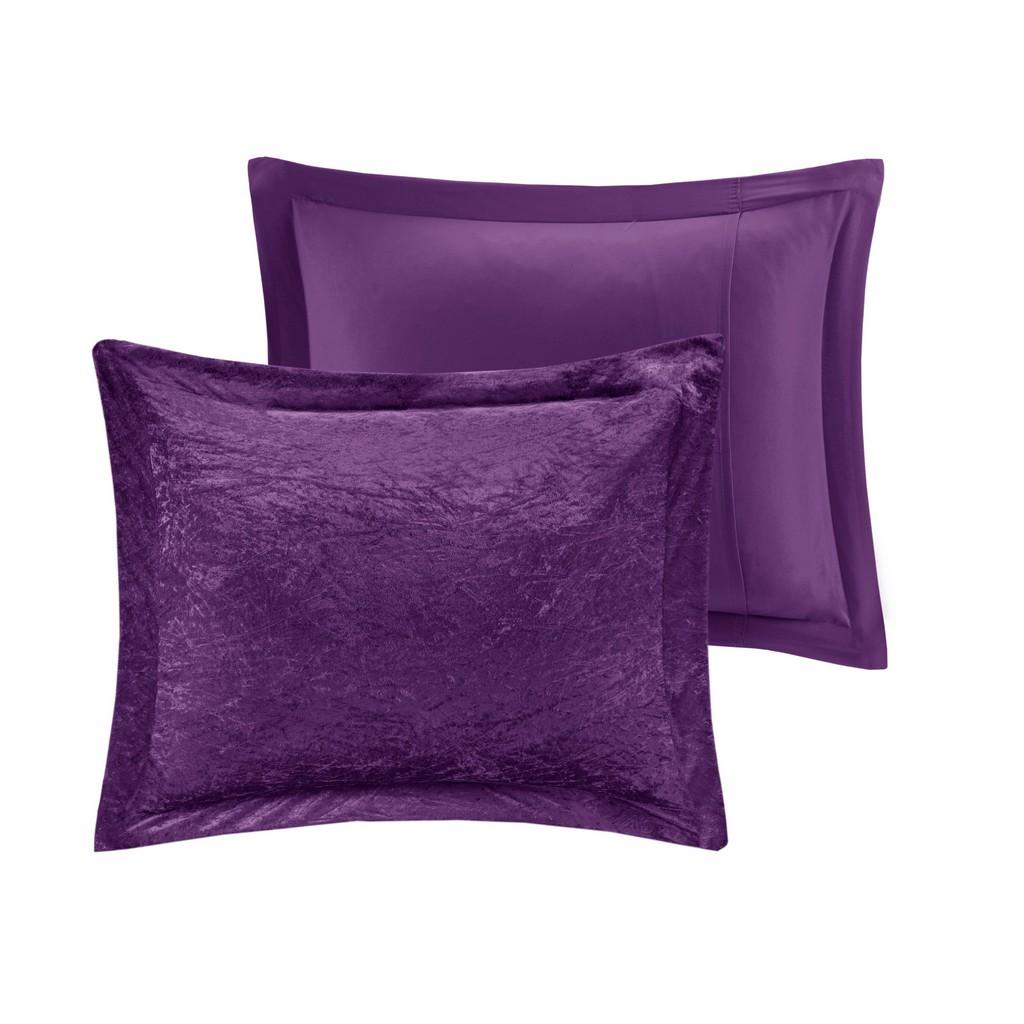 100% Polyester Crushed Velvet Comforter Set - Olliix ID10-1902