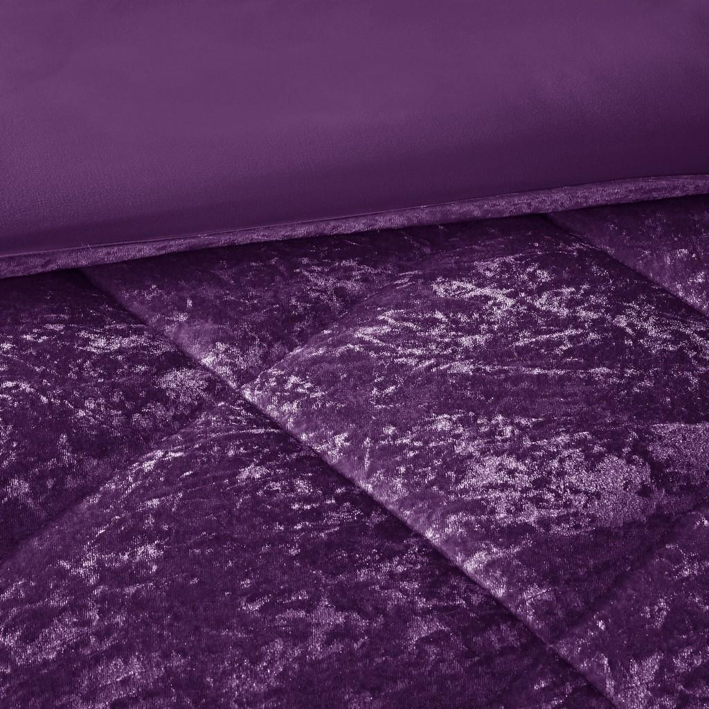 100% Polyester Crushed Velvet Duvet Cover Set - Olliix ID12-1903