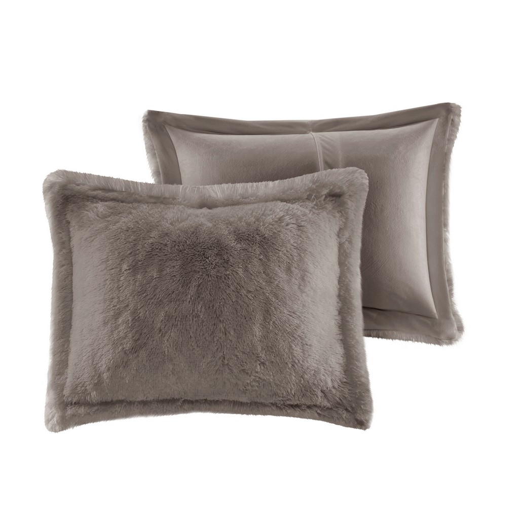 100% Polyester Solid Shaggy Fur Duvet Cover Set - Olliix ID12-1926