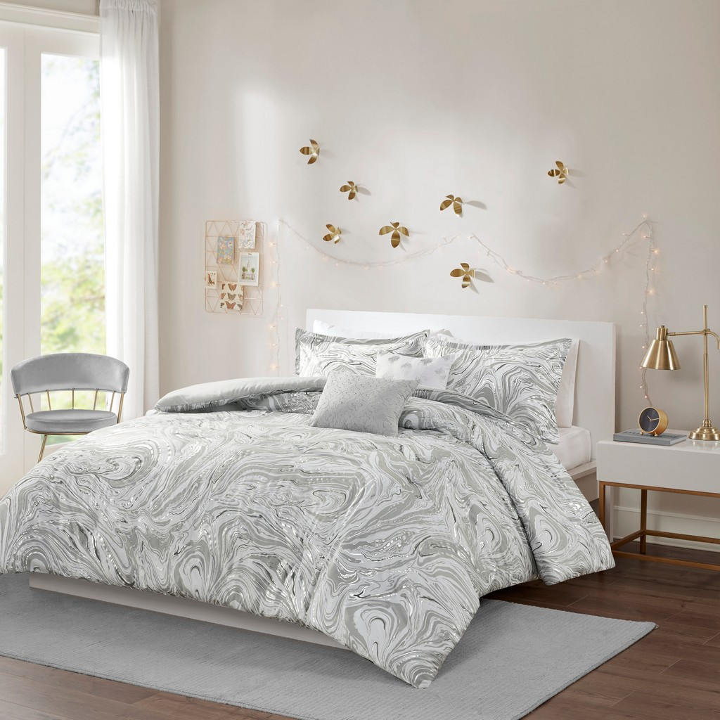 100% Polyester Brushed Duvet Cover Set - Olliix ID12-1936