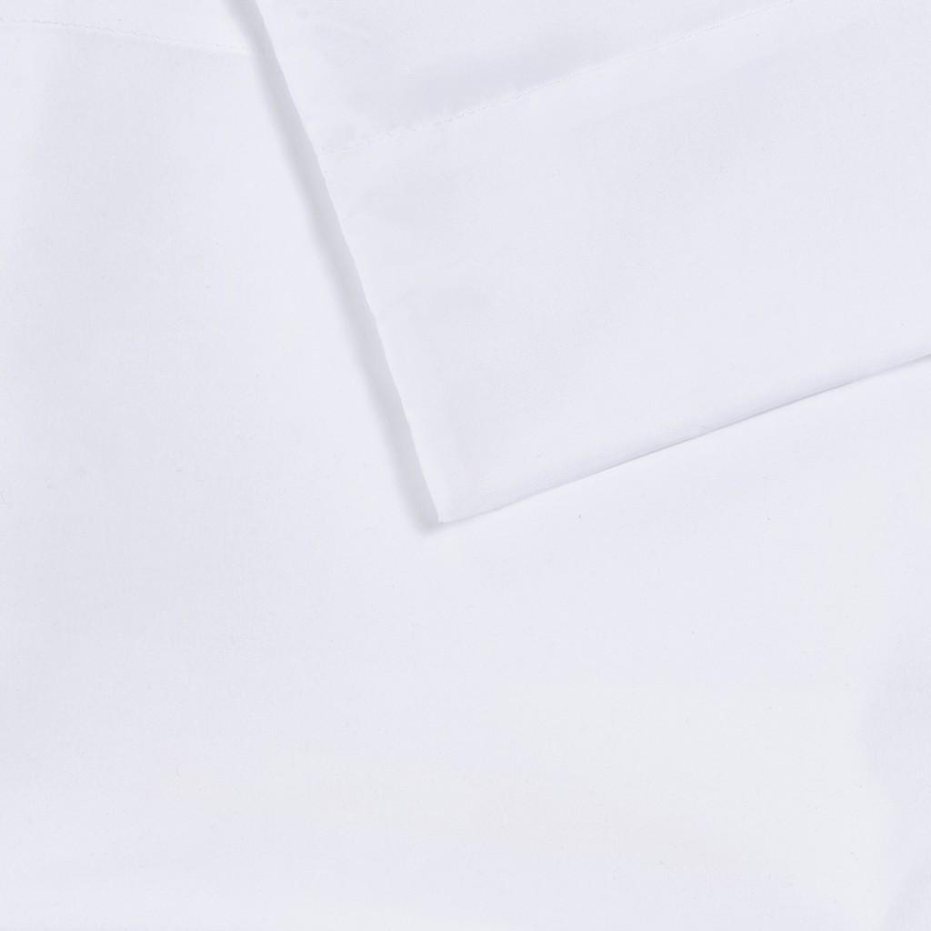 100% Polyester Microfiber Solid 6pcs Sheet Set W/ Side Storage Pockets - Olliix ID20-1913