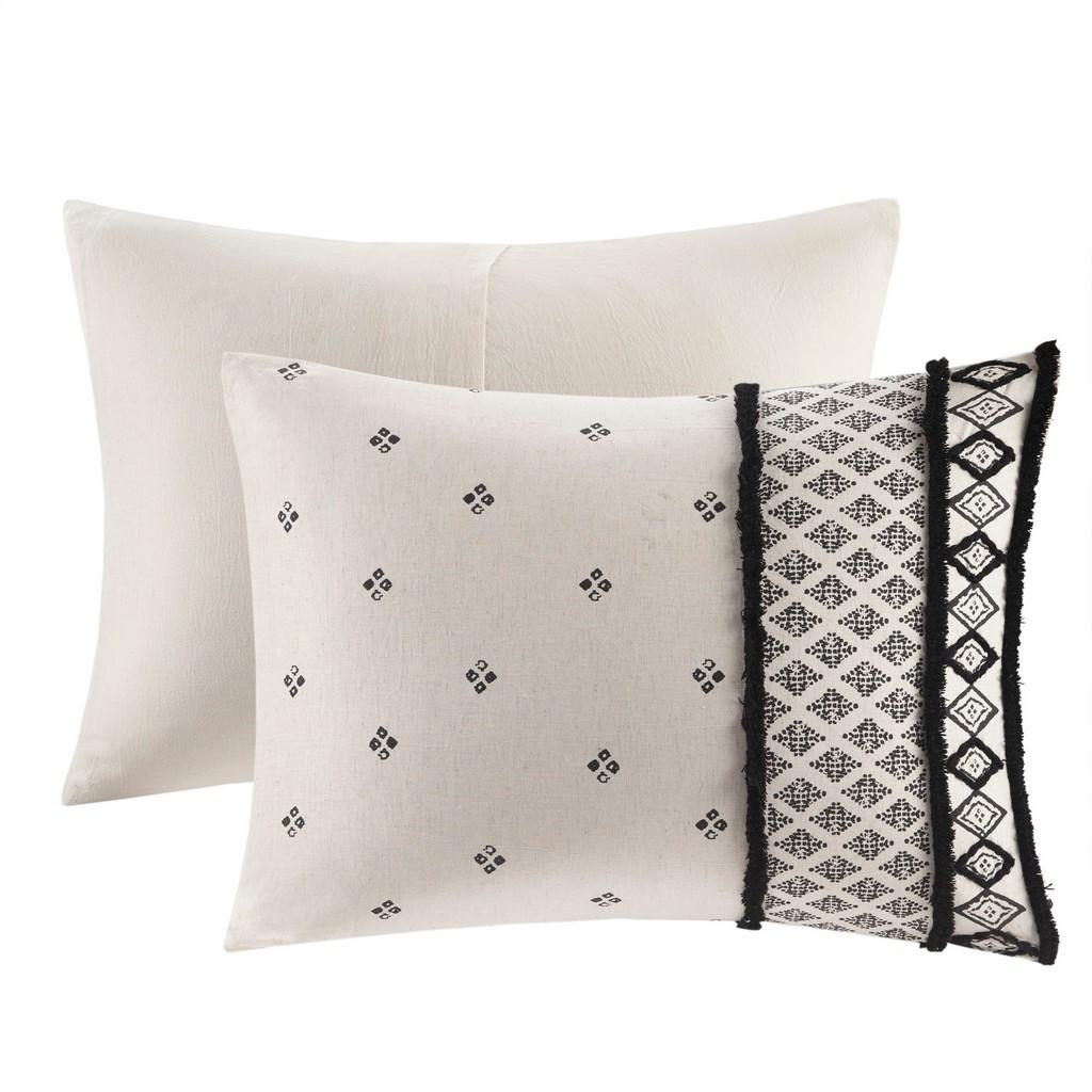 85% Cotton15% Flax Printed Comforter Set - Olliix II10-1108