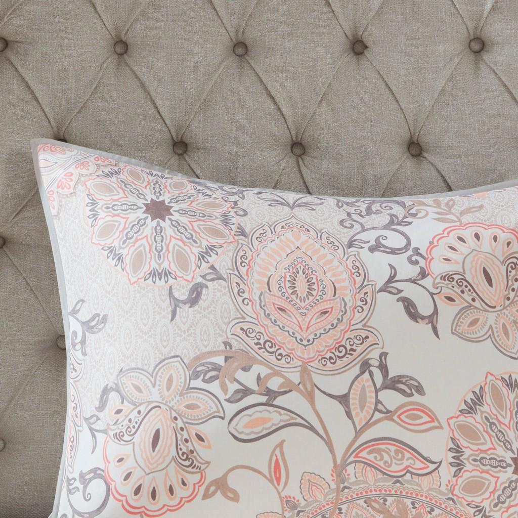100% Cotton Percale Printed Duvet Cover Set - Olliix MP12-6882