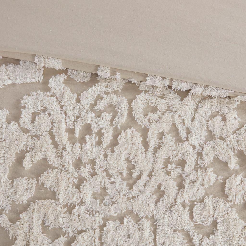 100% Cotton Tufted Duvet Cover Set - Olliix MP12-7105