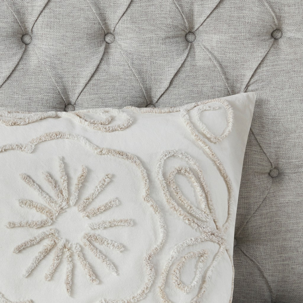 100% Cotton Tufted Duvet Cover Set - Olliix MP12-7142