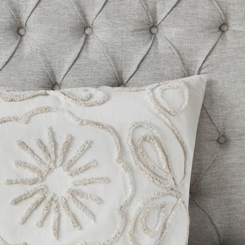 100% Cotton Tufted Duvet Cover Set - Olliix MP12-7143