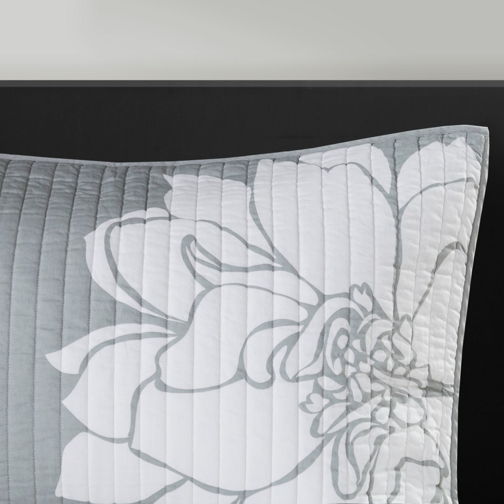 100% Cotton Sateen Printed 6 Piece Coverlet Set - Olliix MP13-6835