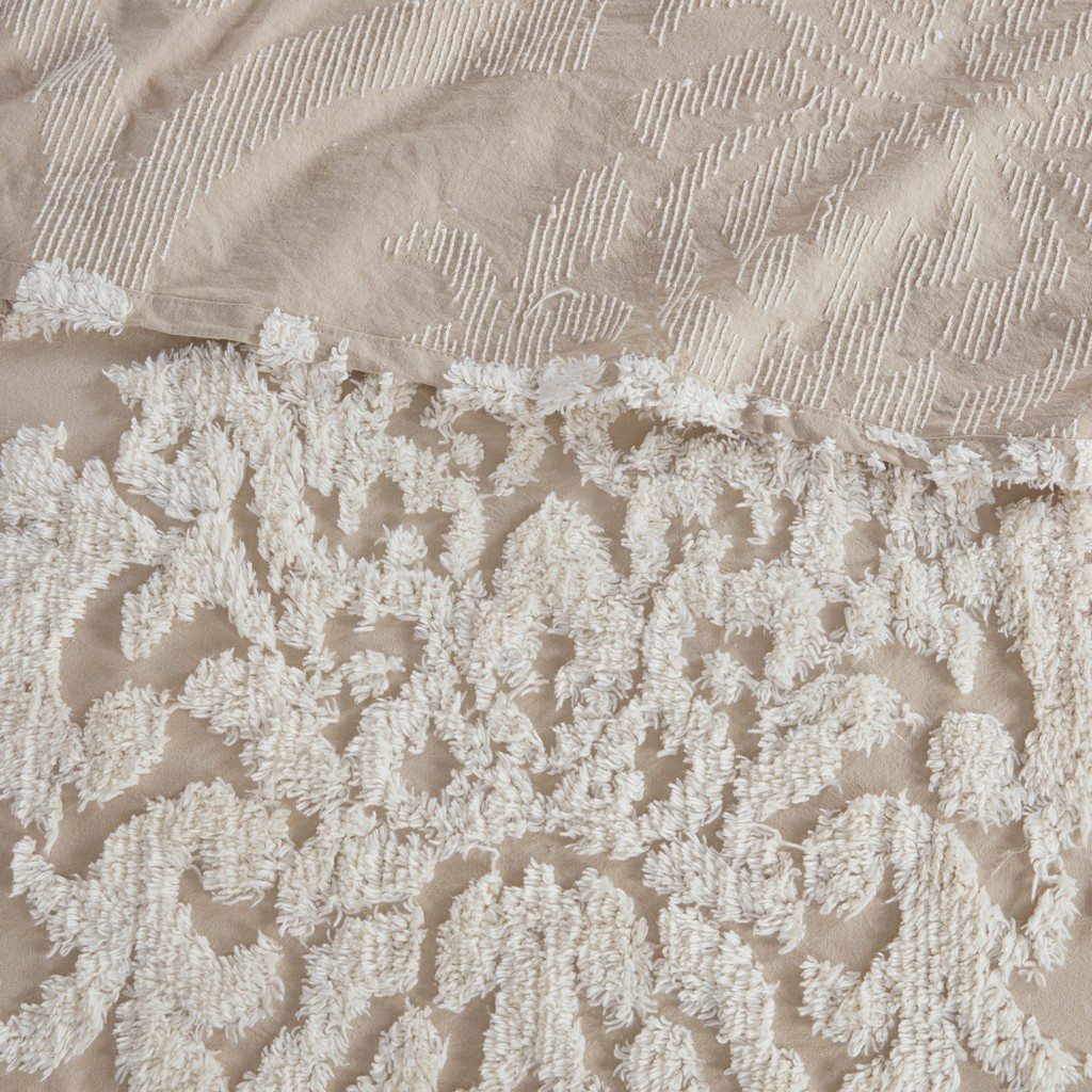 100% Cotton Tufted Coverlet Set - Olliix MP13-7106