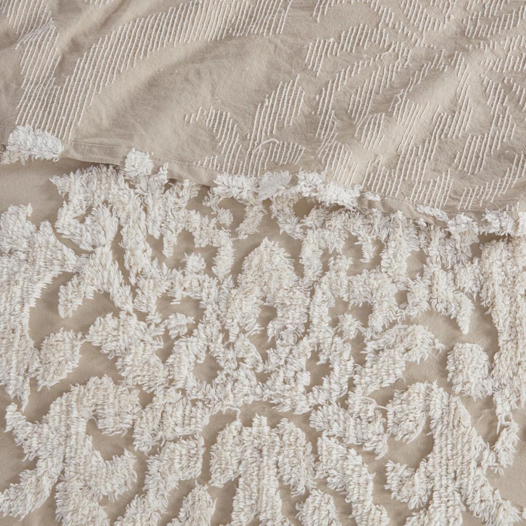 100% Cotton Tufted Coverlet Set - Olliix MP13-7107