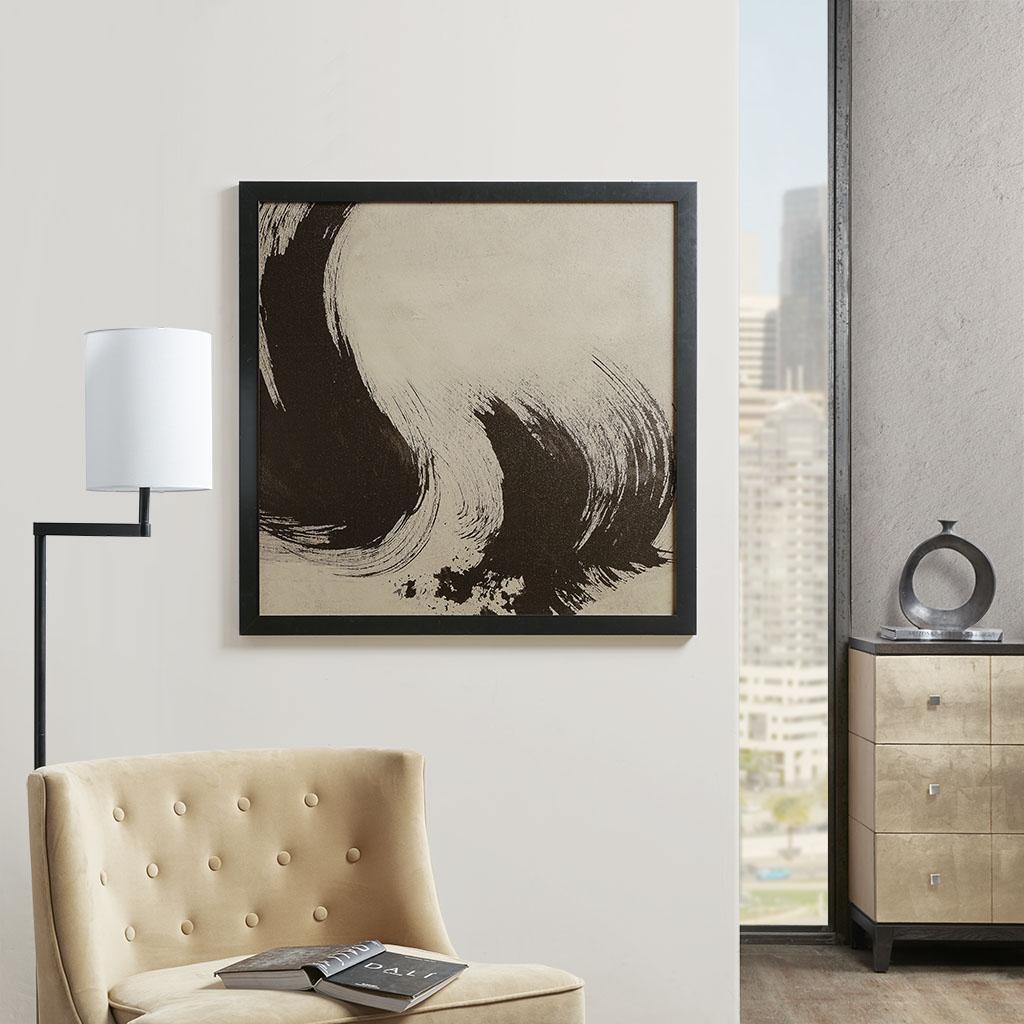 Martha Stewart 35X35 Sf Framed Embellished Canvas - Stroke I in Multi - Olliix MT95C-0022