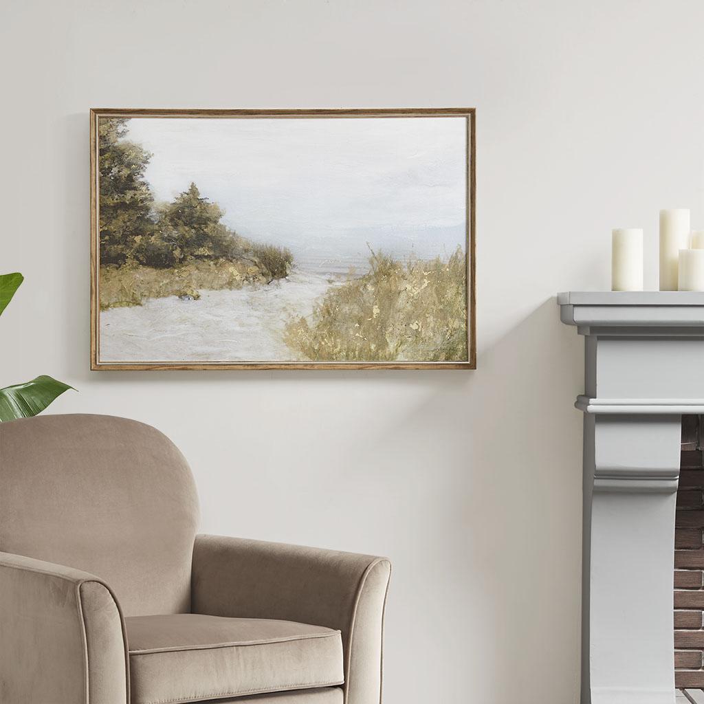 Martha Stewart 36X24 Framed Canvas Rolled Gel - Lake Walk in Multi - Olliix MT95C-0024