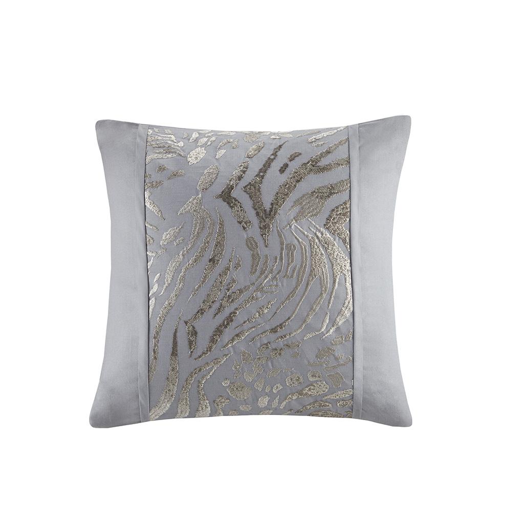 """N Natori 18x18"""" Embroidered Cotton Square Decorative Pillow in Multi - Olliix NS30-3421"""