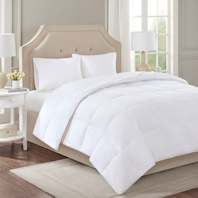 True North by Sleep Philosophy Level 2 Twin Down Comforter in White - Olliix TN10-0055