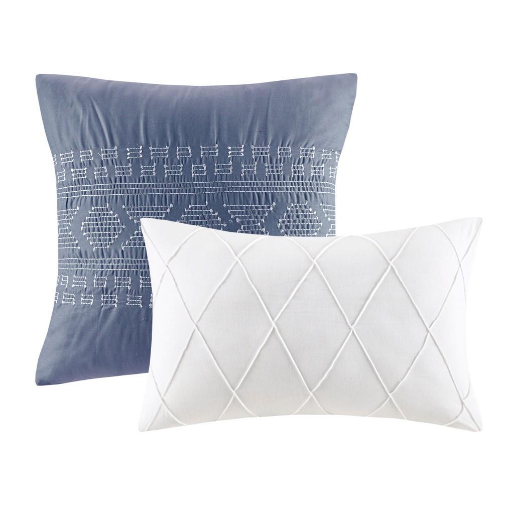 100% Cotton Jacquard 5pcs Comforter Set - Olliix UH10-2339