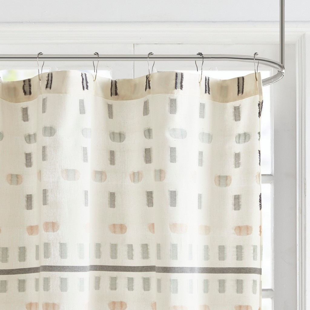 100% Cotton Jacquard Shower Curtain - Olliix UH70-2306
