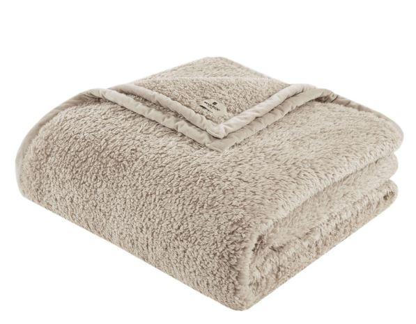 Burlington King Berber Blanket in Tan - Woolrich WR51-2216