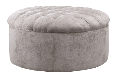 Ashley Furniture Signature Design Carnaby Oversized Accent Ottoman in Dove - 1240408