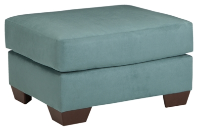 Ashley Furniture Signature Design Darcy Ottoman in Sky - 7500614