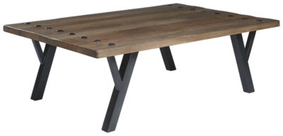 Rectangular | Signature | Furniture | Cocktail | Medium | Design | Brown | Table